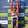 Photos: 優勝は藤波選手のチームメイト、トニー・ボウ選手です