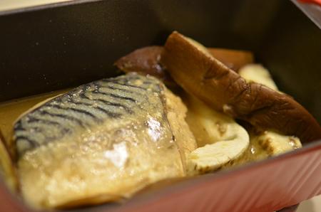 トースターパン/さばと茄子の味噌煮