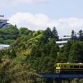 列車とお城