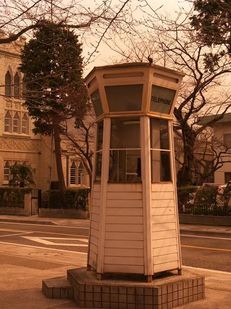 黄昏の電話ボックス