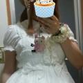 今日のお出かけで着た服。メタモの総レースシャーリングJSKコーデヽ(・∀・)ノ グランバで買ってからまだ着てなかったお洋服。やっと着れた~(*´∀`)