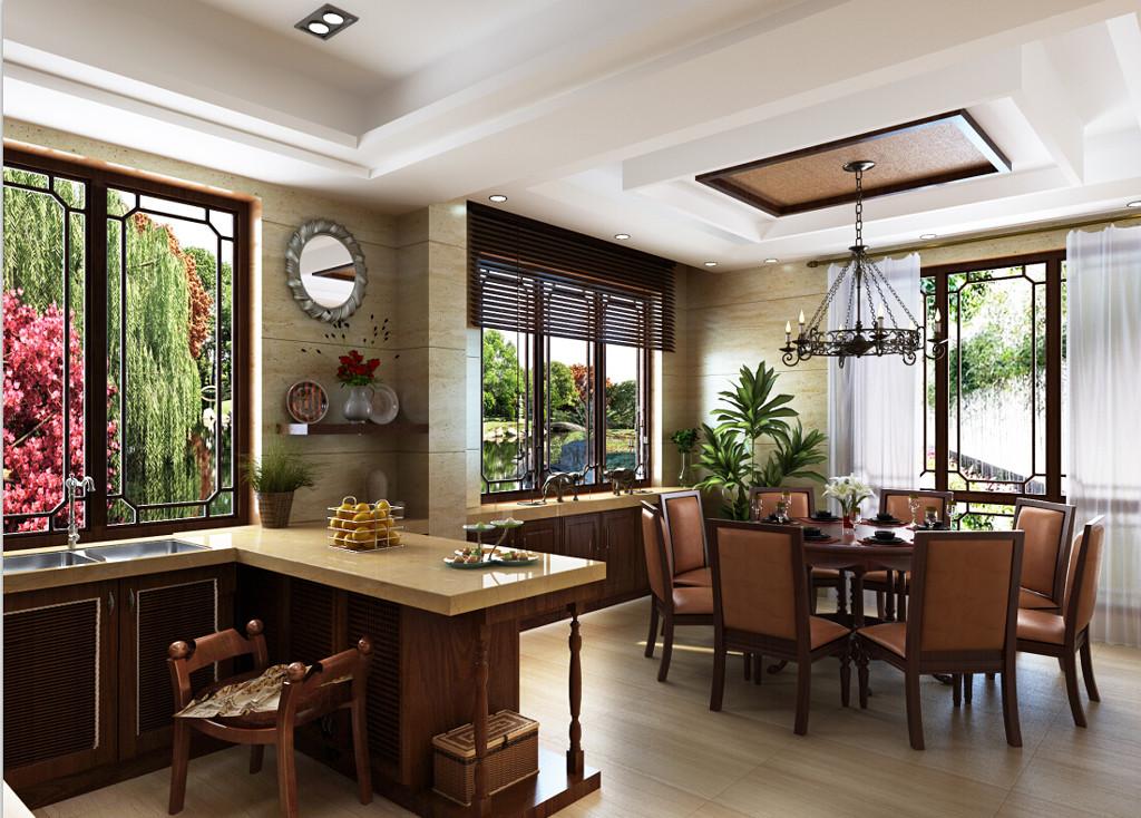 东南亚餐厅MAX模型