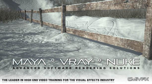 cmiVFX - Maya VRay Nuke (Paolo Copponi)制作雪景教程