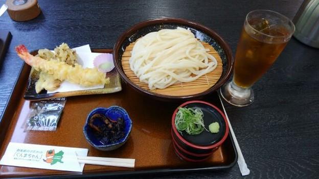水沢うどん えびとまいたけの天ぷら