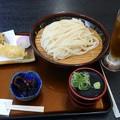 Photos: 水沢うどん えびとまいたけの天ぷら