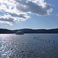 神社近くからの芦ノ湖
