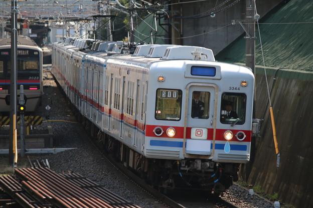 京成3300形 3344+3304F 臨時特急成田山(送り込み回送)