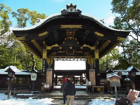 豊国神社 三が日の唐門