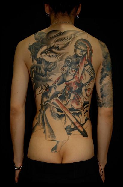 刺青 大阪 タトゥー tattoo 文殊菩薩