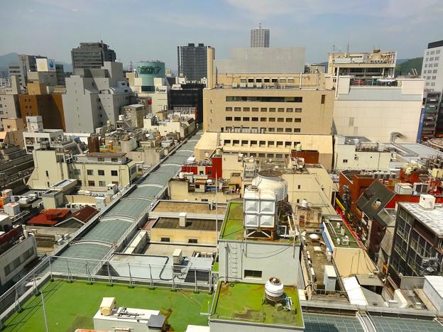 広島パルコ本館9階から八丁堀方向 広島市中区本通 - 堀川町 - 胡町