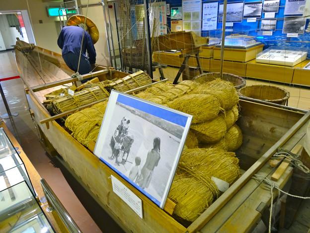 広島市郷土資料館 1階 常設展示 舟運 復元大船 舷から船首 広島市南区宇品御幸2丁目