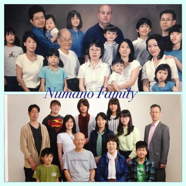 家族写真11年前と今