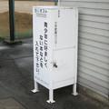 福井県坂井市の丸岡体育館前の白ポスト、向かって右。(2015年)