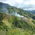 「絶景かな、絶景かな」世界遺産の棚田 Rice terraces ,Banaue *棚田より昇る煙に連なりて雲覆うなりバナウェイの空