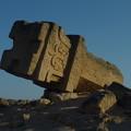 碑文の残る石柱 Stele at al-Balid,Oman