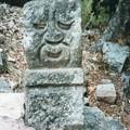 Photos: 人面石 コパン遺跡 Human-faced stone pillar
