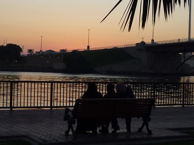 アラブの残照,UAE  Sunset viewing,UAE