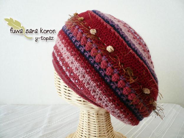 アメリのニット・ベレー帽