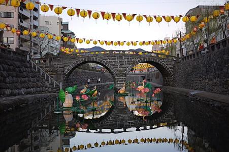 2012.01.26 長崎 ランタンフェスティバル 眼鏡橋