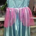 写真: とりあえず完成。シンデレラ衣装、先生好みの配色と素材版。