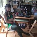 写真: **鉄騎(初代の方な!)が家にあるので、ついカッとなって着替えた。