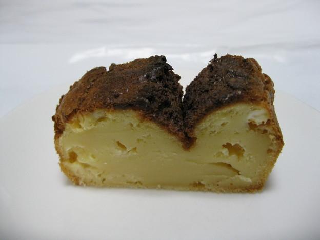 牛乳パックで作ったケーキチーズ味