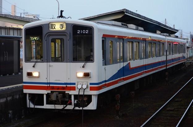 関東鉄道キハ2100形行先幕車両取手行き♪