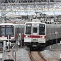 Photos: 久喜入線の東武10030系と引き上げ線の東急5000系