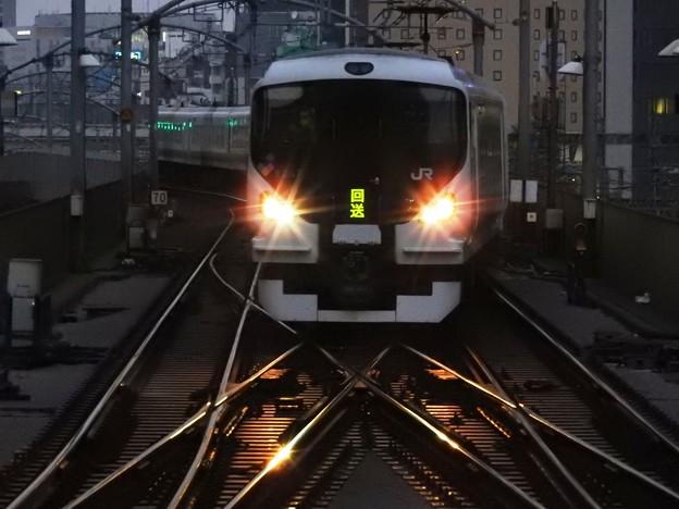 E257系中央ライナー3号送り込み回送東京1番入線