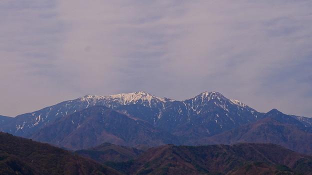 鳳凰三山 左が薬師岳 2,780m 右が観音岳 2,841m