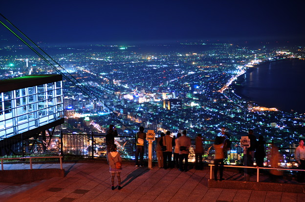 Photos: 函館山から街を見る