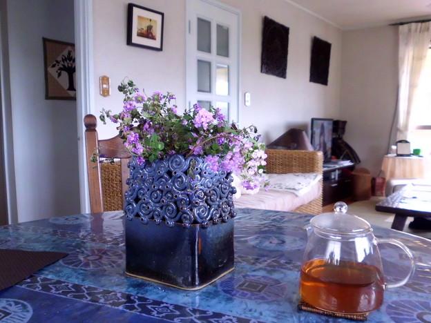 ペナンから持ち帰った花瓶。