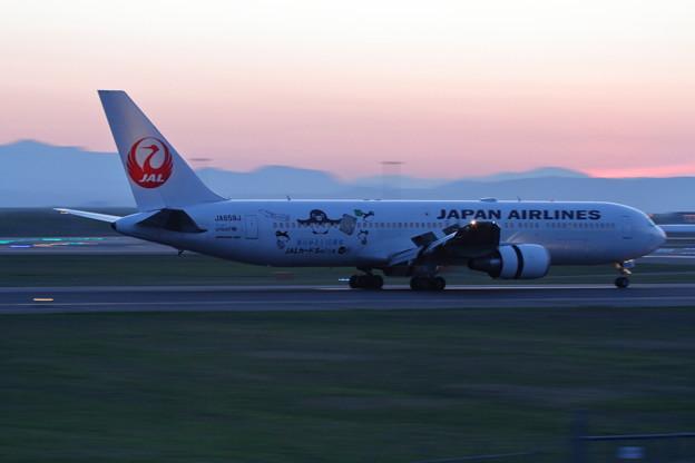 Photos: B767 もう少し明るい時に来て JA659J