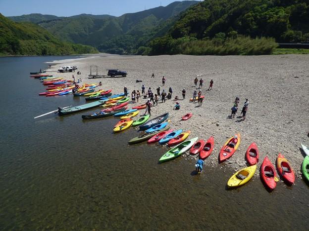 四万十川のカヌー体験