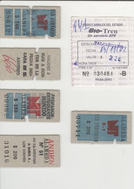 Boleto (チリ国鉄EFEの切符)