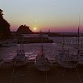 写真: 西伊豆の夕暮れ