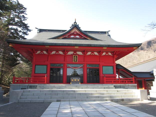 写真: 赤城山山頂の赤城神社2015.4.27