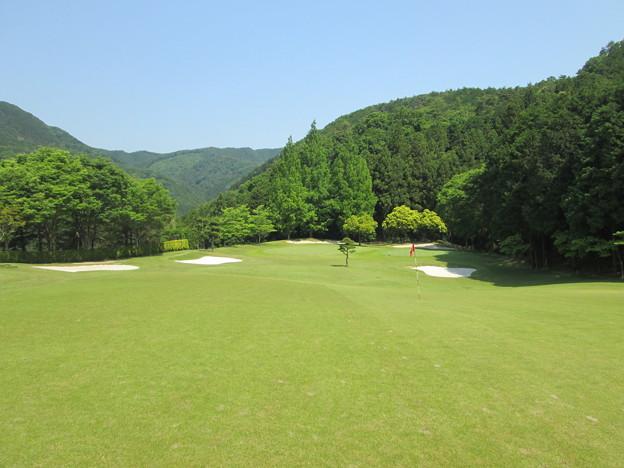 写真: 足利城ゴルフ倶楽部16番ミドルホール画像2015.5.27