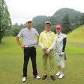 写真: 足利城ゴルフ倶楽部ファミリーイベント8番ティーでS様ご夫妻と2015.6.3