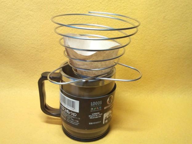 珈琲 ドリッパー  ばね式 アウトドア 金属 製品