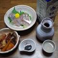 Photos: IMGP4236東広島市、白牡丹とヤズのお造りとアカエイの煮付け
