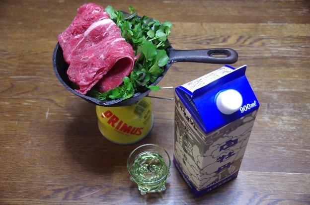 IMGP4214東広島市、白牡丹とクレソンすき焼き