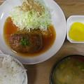 Photos: RIMG4507尾道市、月波食堂定番和風ハンバーグ定食2