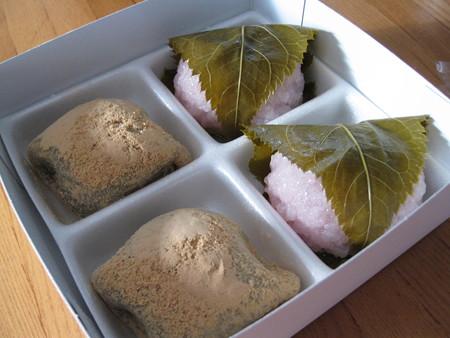 柳月の桜餅とうぐいす餅詰め合わせセット