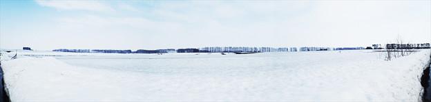 雪解け パノラマ180度