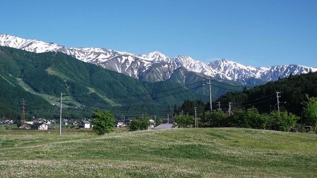 白馬三山を望む
