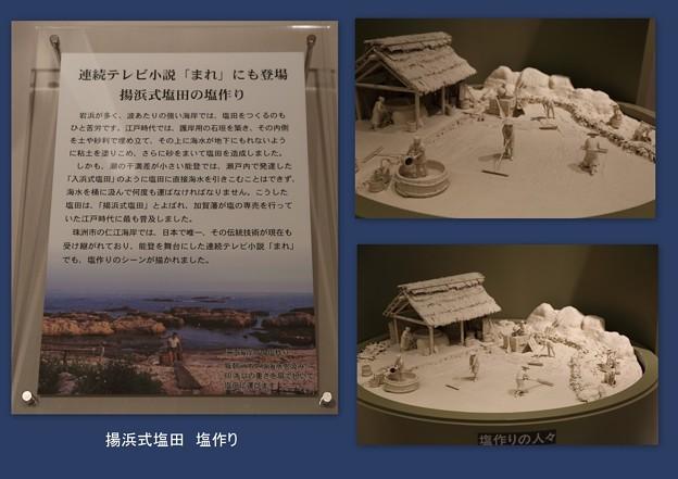 石川県立歴史博物館 揚浜式塩田 塩作り
