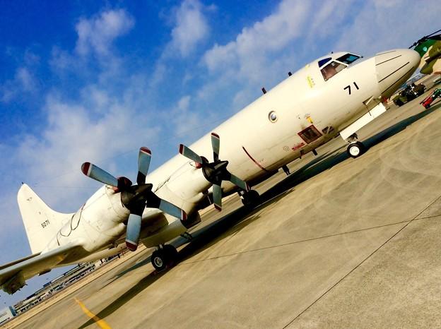 小牧基地航空祭。。厚木基地から海上自衛隊P-3C 3月15日