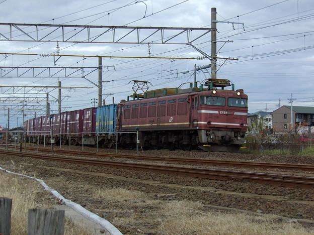 EF81-627牽引 上り貨物
