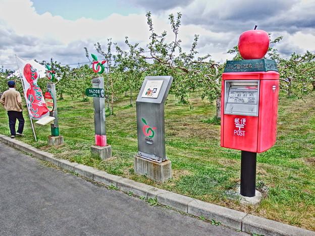 弘前市りんご公園のポスト